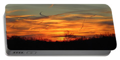 Sky At Sunset Portable Battery Charger by Cynthia Guinn