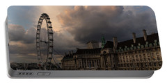 Sky Drama Around The London Eye Portable Battery Charger