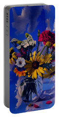 Sky Flowers Portable Battery Charger