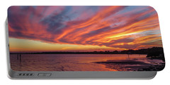 Sky On Fire Portable Battery Charger by Jane Luxton