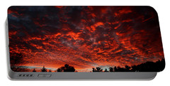 Sky On Fire Portable Battery Charger by Kenny Glotfelty