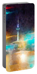 Sky Tower By Night Portable Battery Charger