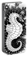 Portable Battery Charger featuring the digital art Skyhorse by Carol Jacobs