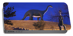 Skyline Drive Dinosaur Statues At Dawn Portable Battery Charger