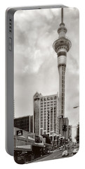 Sky Tower's Queen St Couple.nz Portable Battery Charger by Jennie Breeze