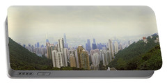 Skyscrapers In A City, Hong Kong, China Portable Battery Charger by Panoramic Images