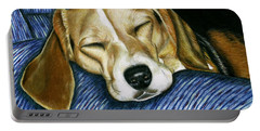 Sleeping Beagle Portable Battery Charger