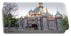 Sleeping Beauty Castle Disneyland Side View Portable Battery Charger