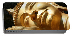 Sleeping Buddha Portable Battery Charger by Nola Lee Kelsey