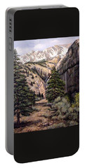 Portable Battery Charger featuring the painting Sleeping Faces In The Rock by Donna Tucker