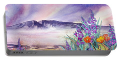Sleeping Lady Sunset Portable Battery Charger by Teresa Ascone