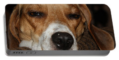 Portable Battery Charger featuring the photograph Sleepy Beagle by John Telfer