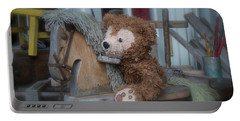 Portable Battery Charger featuring the photograph Sleepy Cowboy Bear by Thomas Woolworth