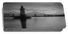 Sleepy Hollow Lighthouse Bw Portable Battery Charger