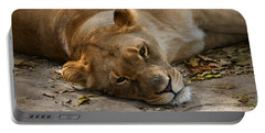Sleepy Lioness Portable Battery Charger
