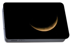 Portable Battery Charger featuring the photograph Slender Waxing Crescent Moon by Katie Wing Vigil