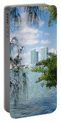 Slice Of Miami Skyline Portable Battery Charger