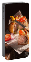 Sliced Pork Pie Portable Battery Charger
