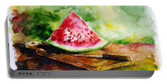 Sliced Watermelon Portable Battery Charger
