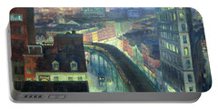 Sloan's The City From Greenwich Village Portable Battery Charger by Cora Wandel