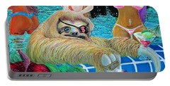 Sloshed Sloth Portable Battery Charger