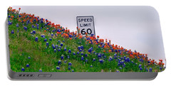 Slow Down And Smell The Bluebonnets Portable Battery Charger