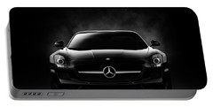 Portable Battery Charger featuring the digital art Sls Black by Douglas Pittman