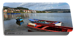 Small Boats In Galicia Portable Battery Charger