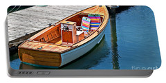 Portable Battery Charger featuring the photograph Small Dinghy Boat Art Prints by Valerie Garner