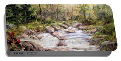 Small Falls In The Forest Portable Battery Charger by Dorothy Maier