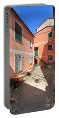 small square in Camogli Portable Battery Charger