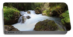 Portable Battery Charger featuring the photograph Small Stream by Antonio Scarpi
