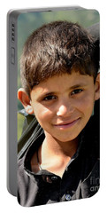 Smiling Boy In The Swat Valley - Pakistan Portable Battery Charger