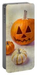 Smiling Jack-o-lantern Portable Battery Charger
