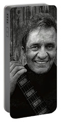 Smiling Johnny Cash Portable Battery Charger