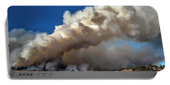 Smoke Column From The Norbeck Prescribed Fire. Portable Battery Charger