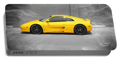 Portable Battery Charger featuring the photograph Smokin' Hot Ferrari by Kathy Churchman