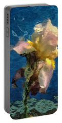 Portable Battery Charger featuring the photograph Smoking Iris by Gary Slawsky