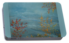 Portable Battery Charger featuring the painting Smoky Mountains In Autumn by Judith Rhue