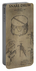 Snare Drum Patent Portable Battery Charger by Dan Sproul