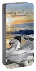 Portable Battery Charger featuring the photograph Snow Bird Vacation by Gary Keesler