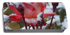 Snow Blooms Portable Battery Charger