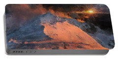 Snow Cap Sunset Portable Battery Charger