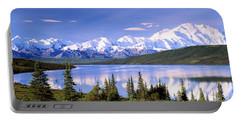 Snow Covered Mountains, Mountain Range Portable Battery Charger