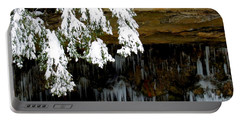 Snow Covered Pine Portable Battery Charger