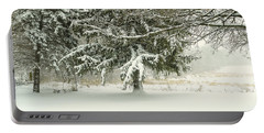 Snow-covered Trees Portable Battery Charger