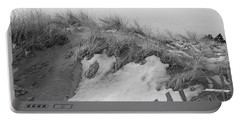 Snow Covered Sand Dunes Portable Battery Charger by Eunice Miller