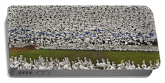 Portable Battery Charger featuring the photograph Snow Geese By The Thousands by Valerie Garner