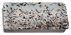 Snow Geese Takeoff From Farmers Corn Field. Portable Battery Charger