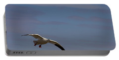 Snow Goose Approach Portable Battery Charger by Mike Dawson